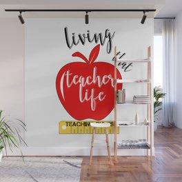 Teacher Life Teaching Rules School Funny Lesson Preschool Kindergarten Wall Mural