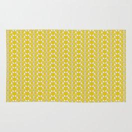 Snow Drops on Mustard Yellow Rug