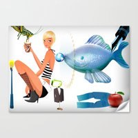 surrealism Canvas Prints featuring Surrealism by amanvel