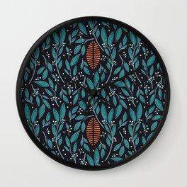 Dark Flora 004 Wall Clock