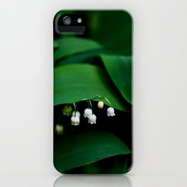 Lily Of the Valley With Large Green Leaves iPhone Case