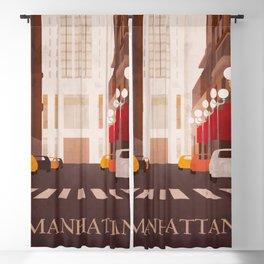 New York Manhattan watercolor Blackout Curtain