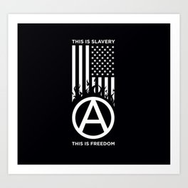 Anrchy is freedom Art Print