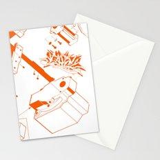 Orange Tech Stationery Cards