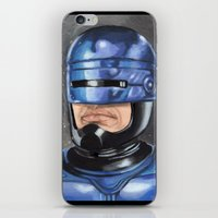 robocop iPhone & iPod Skins featuring Robocop by Luis Tinoco