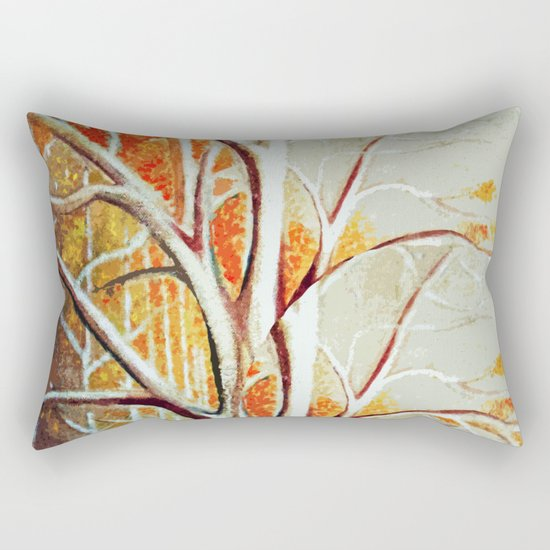 Fall Tree Leaves Rectangular Pillow