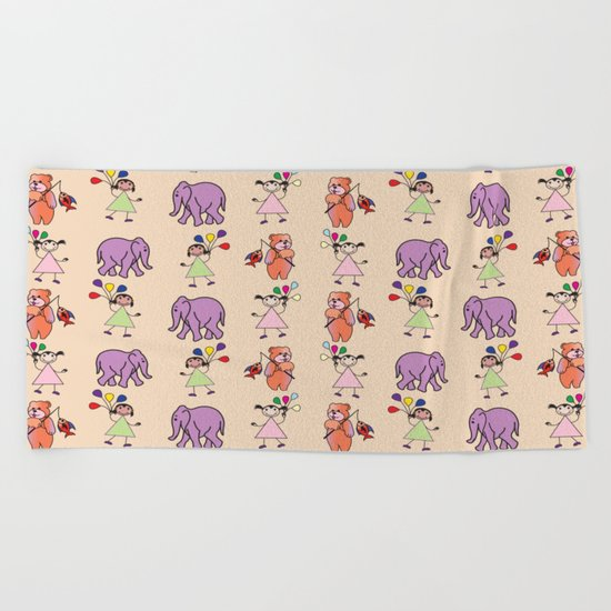 pattern 13 Beach Towel