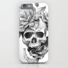 Skull and Roses Slim Case iPhone 6s