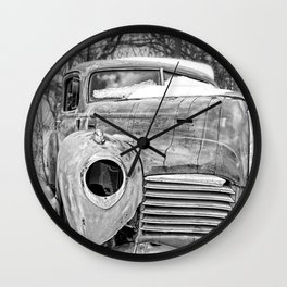 Old Hudson in the Snow Wall Clock