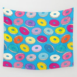 Donuts In The Sky By Everett Co Wall Tapestry