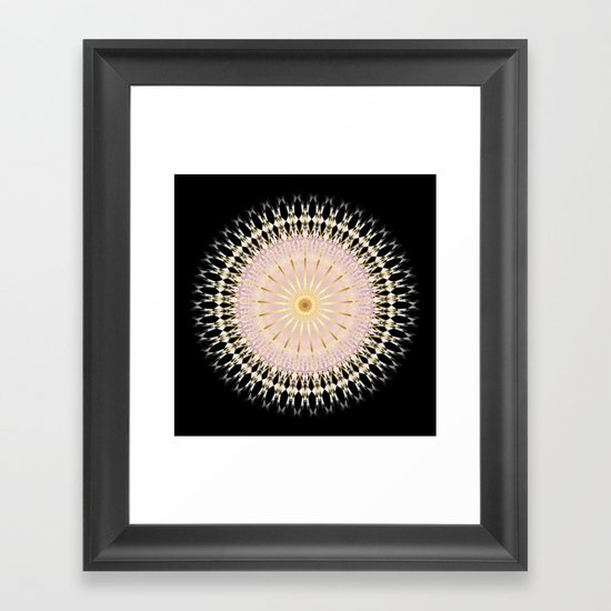 Blush Gold Black Mandala by ninabaydur