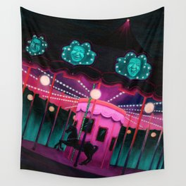Pink and Purple Carnival Wall Tapestry