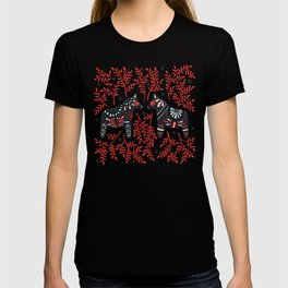Swedish Dala Horses – Red and Black Palette T-shirt