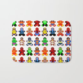 Superhero Gingerbread Man Bath Mat