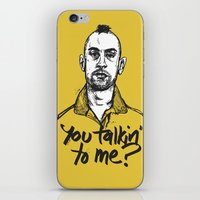 taxi driver iPhone & iPod Skins featuring Taxi Driver by Dave Flanagan