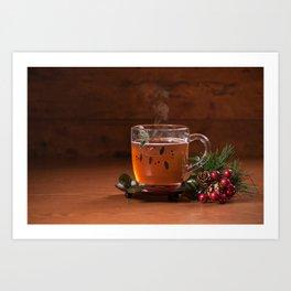 Holiday Tea Art Print