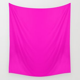 Shocking pink - solid color Wall Tapestry