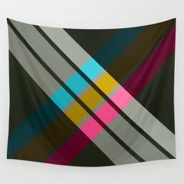Adrena - Colorful Abstract X Art Wall Tapestry