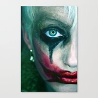 joker Canvas Prints featuring Joker by Imustbedead