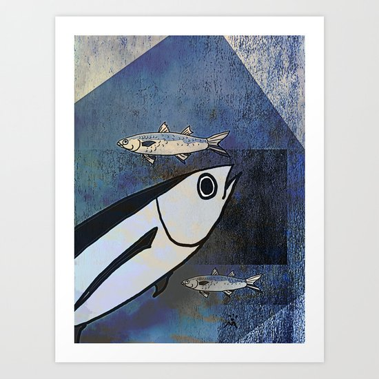Tuna Fish and Others Art Print