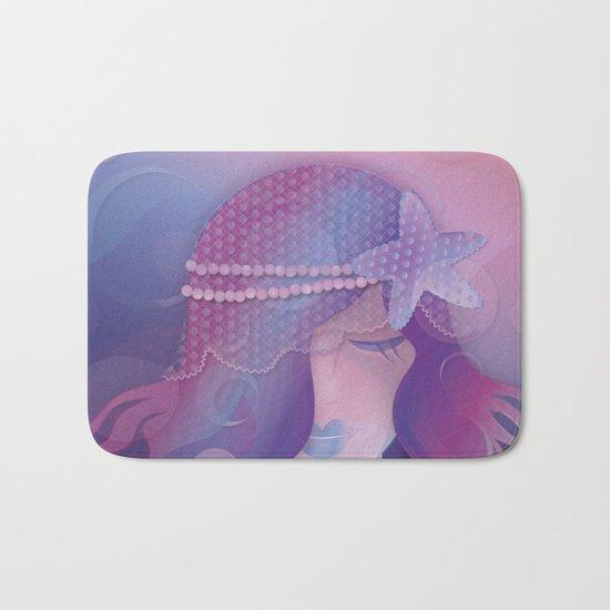 Mermaid IV - Pink Violet Princess Bath Mat