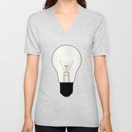 Isolated Light Bulb Unisex V-Neck