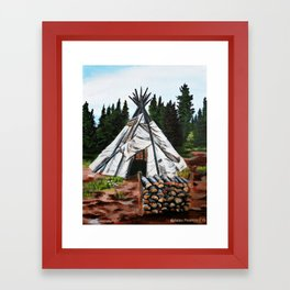Walking Out Ceremony Teepee Framed Art Print