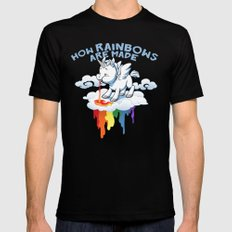 How Rainbows Are Made Mens Fitted Tee MEDIUM Black