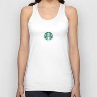starbucks Tank Tops featuring Starbucks by nZ.Design