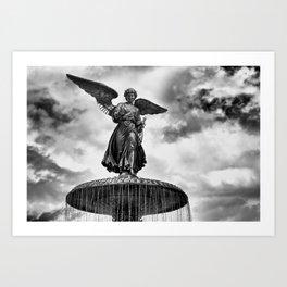 ANGEL OF THE WATERS Art Print