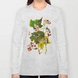Black and Yellow Warbler Bird Long Sleeve T-shirt