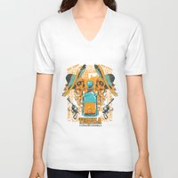 tequila V-neck T-shirts featuring Tequila Duel by Tshirt-Factory