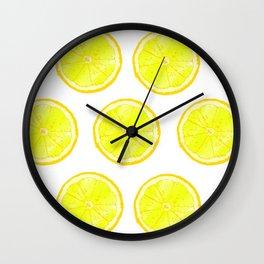 Polka Lemon Wall Clock