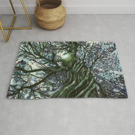 Sunlight Through Cool Tree Branches Rug