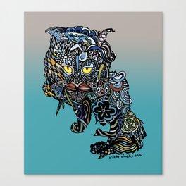 Dragon Cat (Color) Canvas Print
