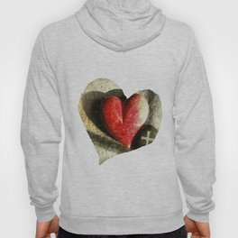 Red Heart and Cross of Stone Hoody