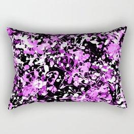 Orchid Splatter Paint Rectangular Pillow