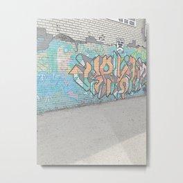 Graffiti in an alley Metal Print