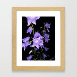 Flowers in Purple Framed Art Print