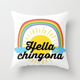Hella Chingona Throw Pillow