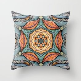 beautiful fantastic flowers Throw Pillow
