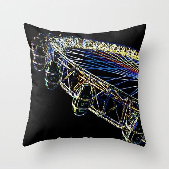 The London Eye Art Throw Pillow