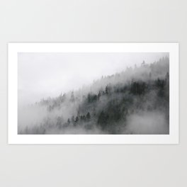 Mountain side Art Print