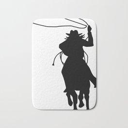 Cowgirl Roper Silhouette Bath Mat