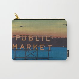 Sun Sets on the Market Carry-All Pouch