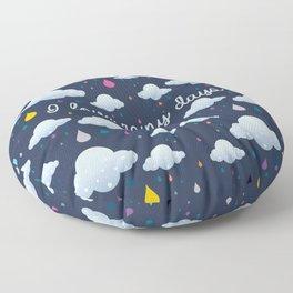 I love Rainy Days Floor Pillow