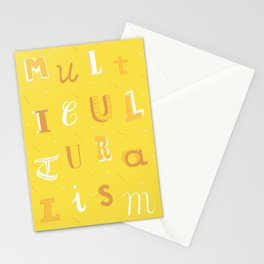 Multiculturalism type poster Stationery Cards