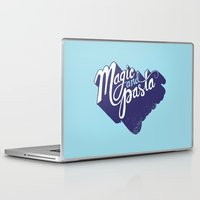 pasta Laptop & iPad Skins featuring Life: Magic & Pasta by Chris Piascik