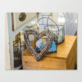Heart on box Canvas Print