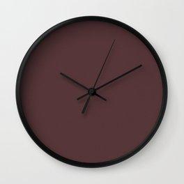 """Porstroke Rosewood / Rose Gold (Pattern)"" Wall Clock"